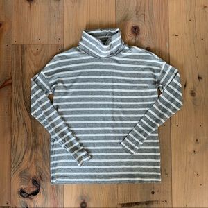 J.Crew Oversized deck stripe turtleneck